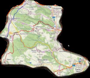 mapa Lysicko